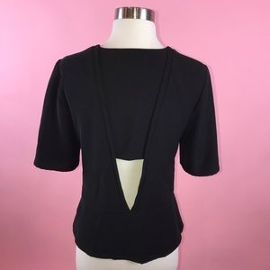A.L.C Black Blouse with Short Sleeves M